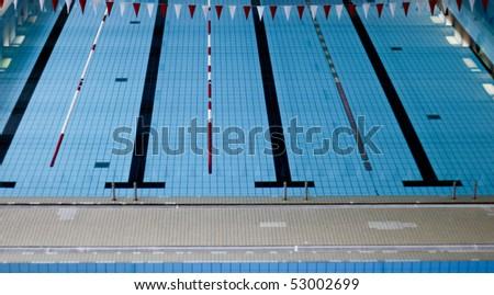 indoor swimming pool - stock photo
