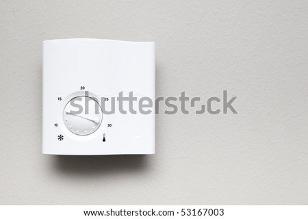 indoor thermostat - stock photo