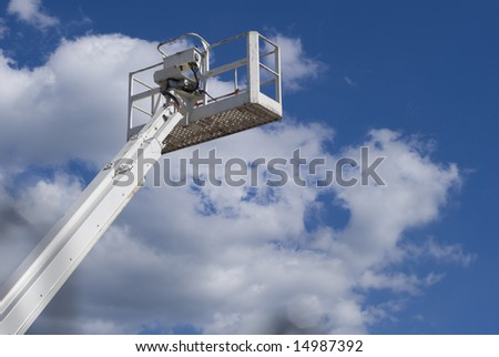 industrial aerial lift - stock photo