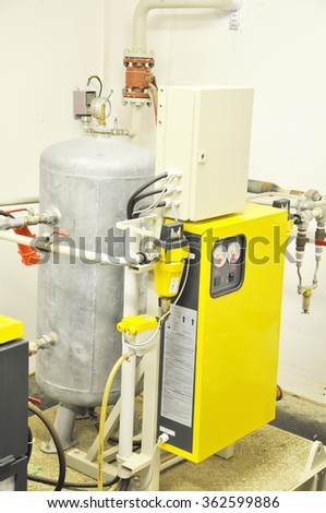 Industrial Air Compressor - stock photo