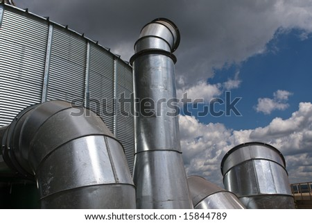 industrial area - industrial system of ventilation and air-conditioning