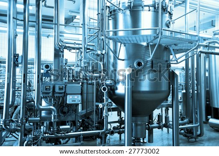 industrial background - stock photo