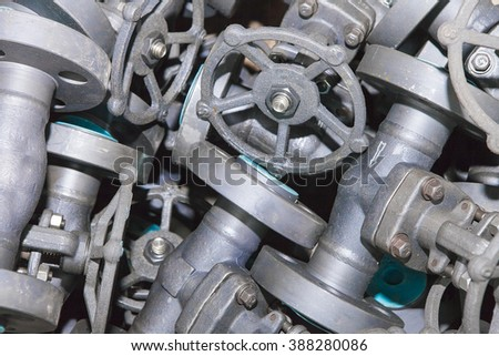 Industrial background from part of valves for power, oil or gas industry