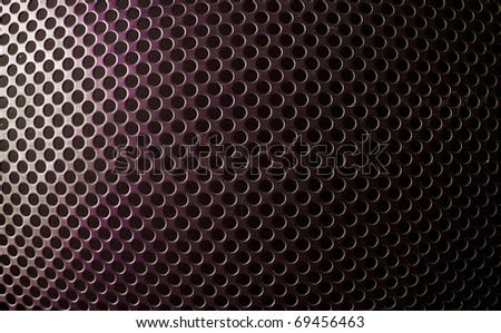 industrial background with plate with holes - stock photo