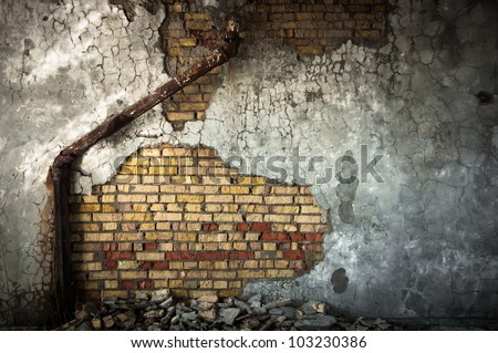 Industrial background with sewer pipe closeup - stock photo