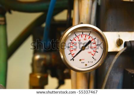 Industrial barometer - stock photo
