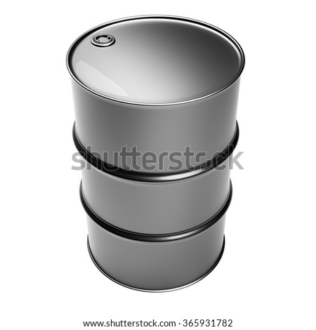 Industrial barrel isolated on white background - stock photo