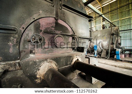 Industrial Boilers Gate - stock photo