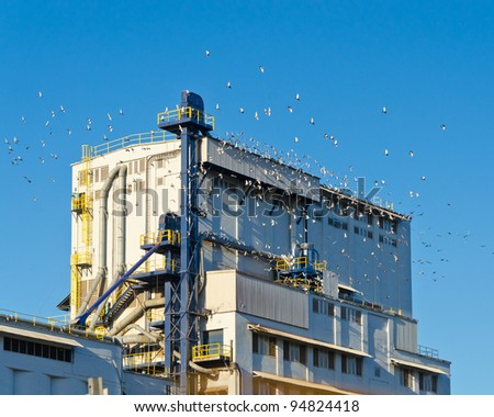 Industrial Building. - stock photo