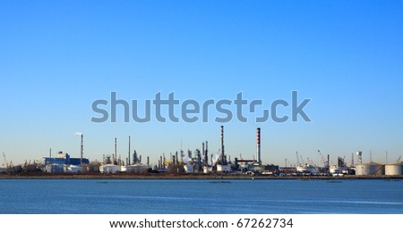 industrial buildings - stock photo