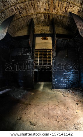 Industrial carriage interior in dark colors