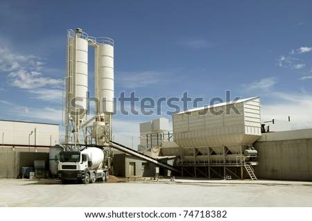 Industrial Cement Processing Plant