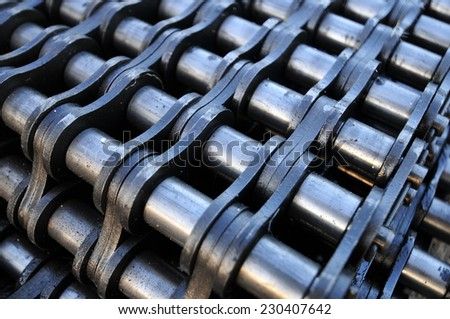 Industrial chain - stock photo