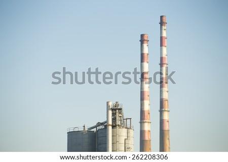 Industrial chimney - stock photo
