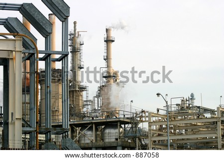 Industrial Chimneys: Smoke Stack - stock photo
