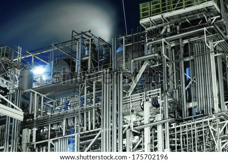 Industrial complex - stock photo
