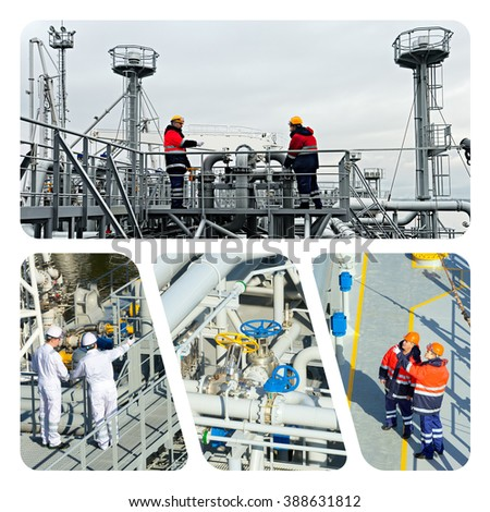 Industrial concept.  Oil And Gas Industry - stock photo