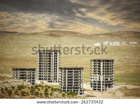 Industrial construction and building - stock photo