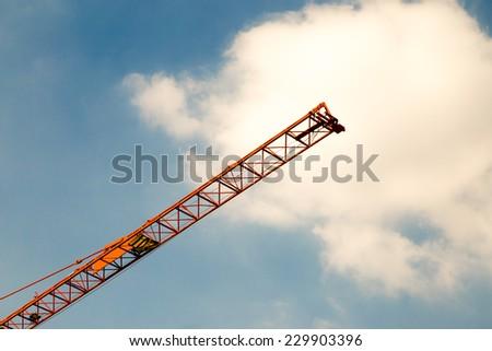 Industrial construction crane - stock photo