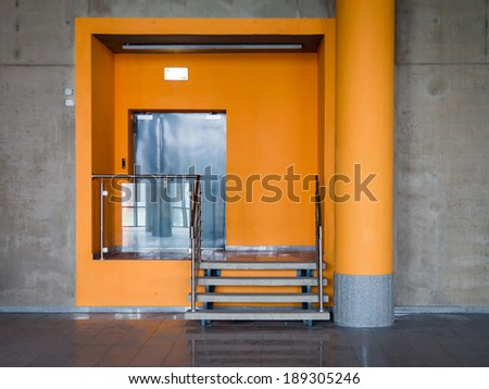 Industrial door - stock photo