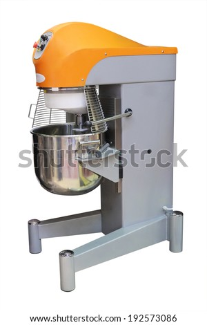 industrial dough mixer under the white background - stock photo