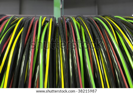 Industrial electric cable. - stock photo