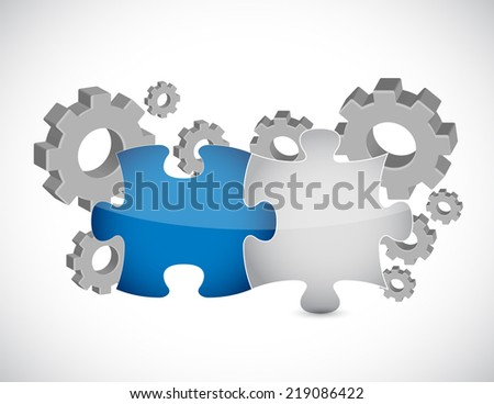 industrial essentials concept illustration design over a white background - stock photo