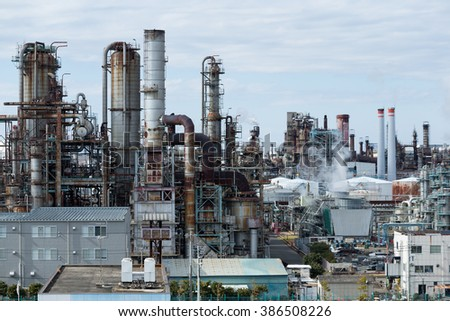 Industrial factory in Kawasaki - stock photo