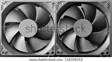 Industrial fan turbine background - stock photo