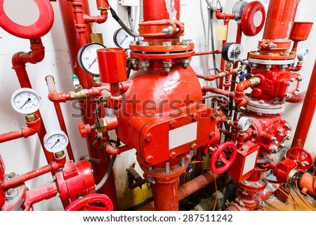 Industrial fire control system - stock photo