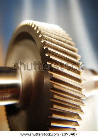 Industrial gear - stock photo