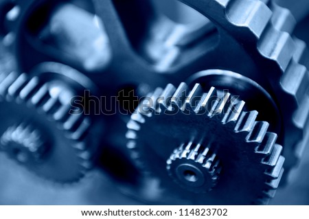 industrial gears set - stock photo