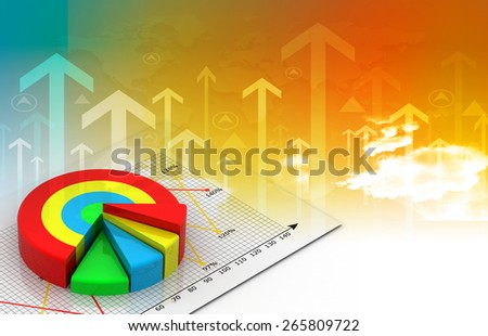 Industrial growth of  business chart  - stock photo