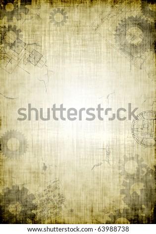 Industrial Grunge Background A raster industrial grunge background. Vertical. - stock photo