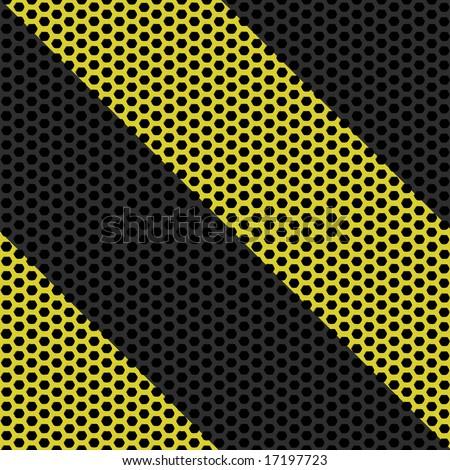 Industrial hazard grille tiles seamlessly - stock photo