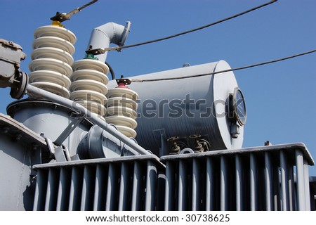 Industrial High voltage converter - stock photo