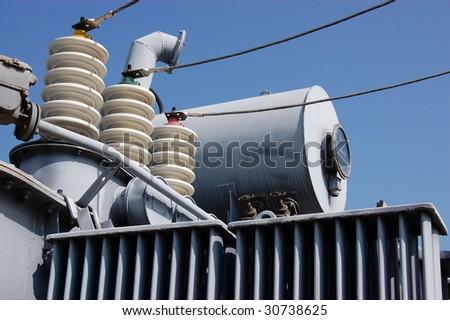 Industrial High voltage converter - stock photo