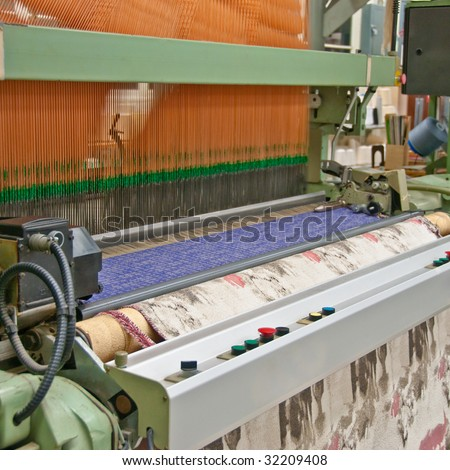 Industrial Jacquard Weaving Loom - stock photo