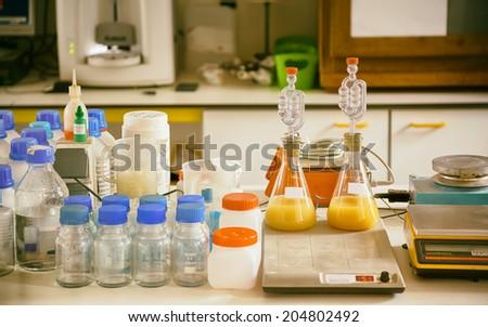 industrial laboratory - stock photo