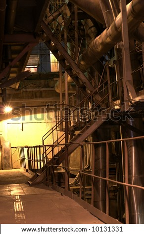 INDUSTRIAL ladders, TANKS AND PIPES - stock photo