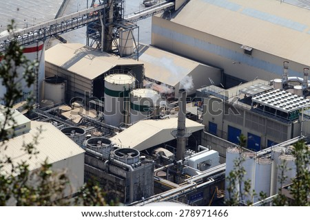 Industrial Machine, Factory Background - stock photo