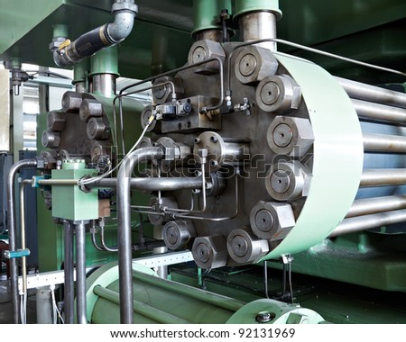 industrial machine in a factory - stock photo