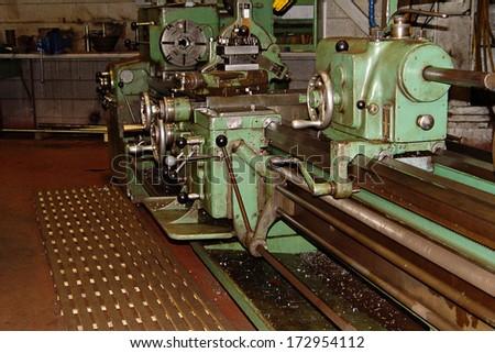 Industrial Machines in iron ore mine - stock photo