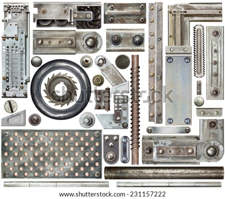 Industrial metal design elements - stock photo