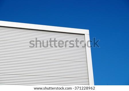 Industrial metal facade cladding - stock photo