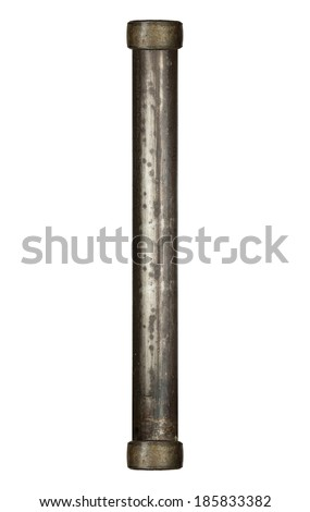 Industrial metal pipe alphabet letter I - stock photo