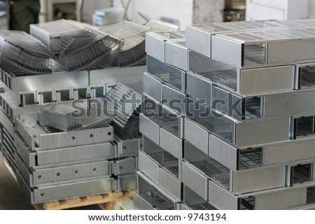 Industrial metal sheet product - used for manufacturing and heavy industry - stock photo