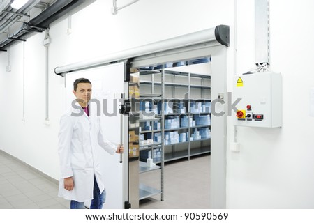 Industrial modern refrigerator - stock photo