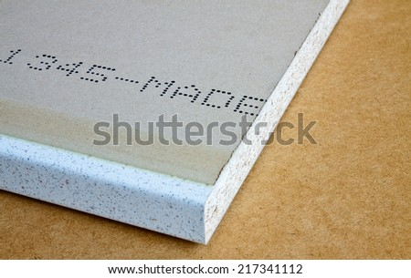 Industrial panel made ??from recycled pressed wood used in the furniture industry - stock photo