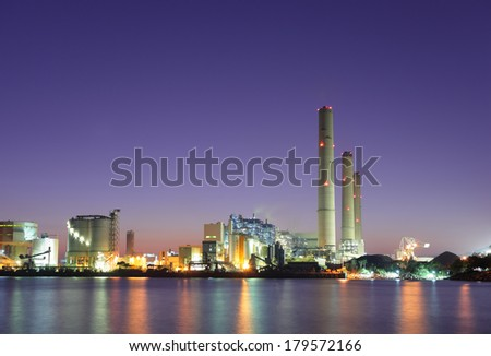 Industrial plant and sea - stock photo